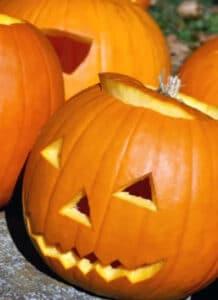 Sculpture de Potirons Halloween à la Ferme de Viltain