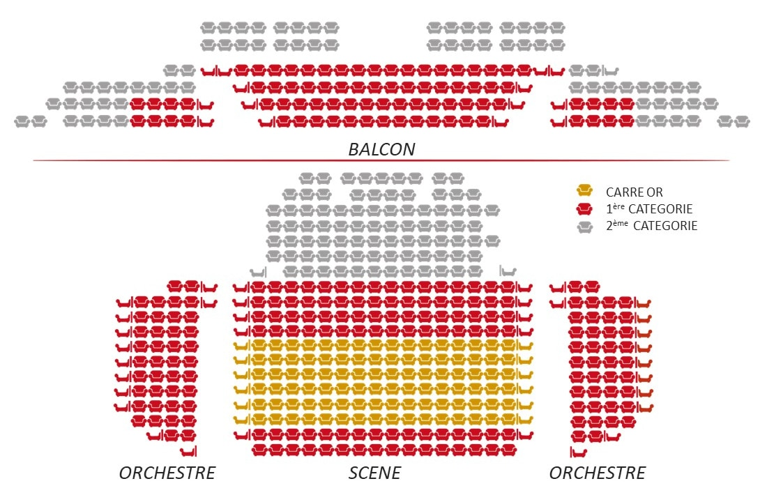 Plan du theatre des nouveautes a Paris