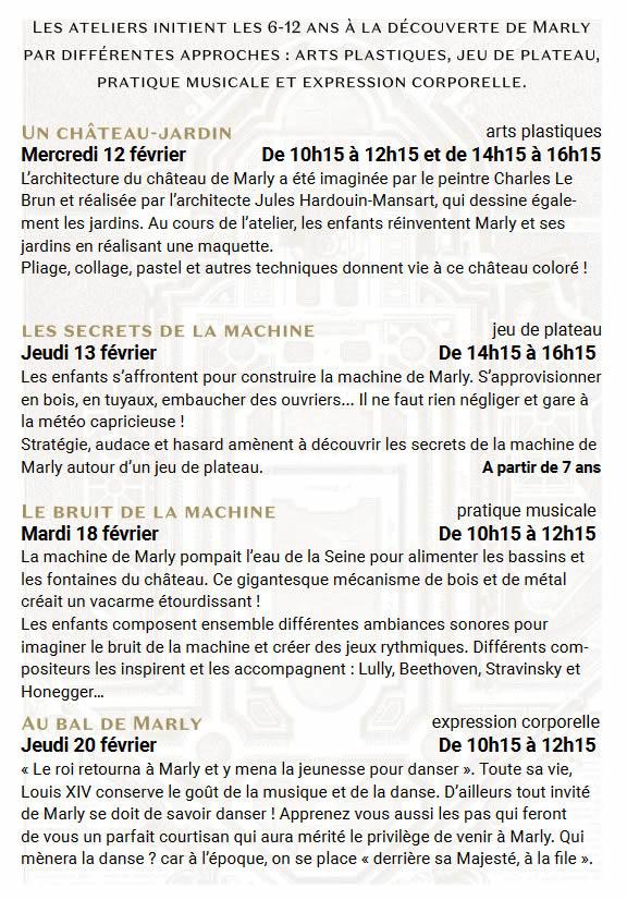 Atelier au Musee - Musée du domaine royal de Marly - Ouest de Paris