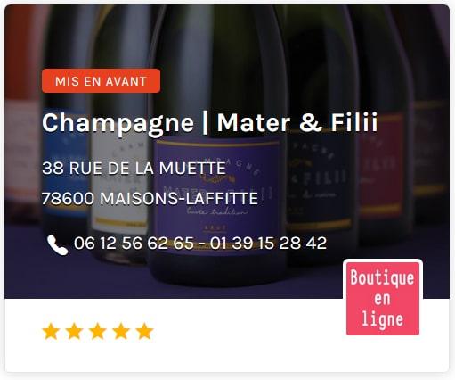Champagne Mater & Fili Paris Ouest