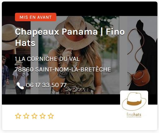 Fino Hat Chapeau Panama ouest de Paris