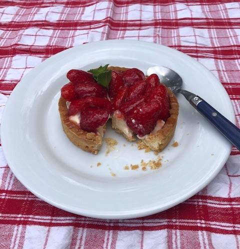 Tarte aux fraises de rachel de Chabert Cookinf with Rachel