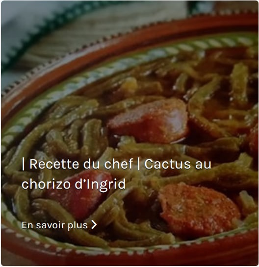 Recette Cactus au Chorizo d'Ingrid Paillet Mi Tiendita