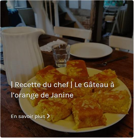 Recette Gâteau à l'orange de Janine Springall Assiette de Paris