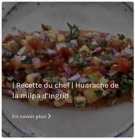 Recette Huarache de la milpa d'Ingrid Mi Tiendita
