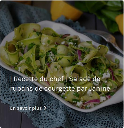Recette Salade de rubans de courgette Janine Springall - L'assiette de Paris