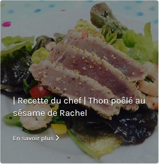Recette Thon Poele au Sésame de Rachel de Chabert Cooking with Rachel
