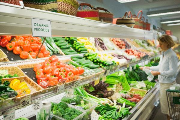 aliment biologique en supermarche