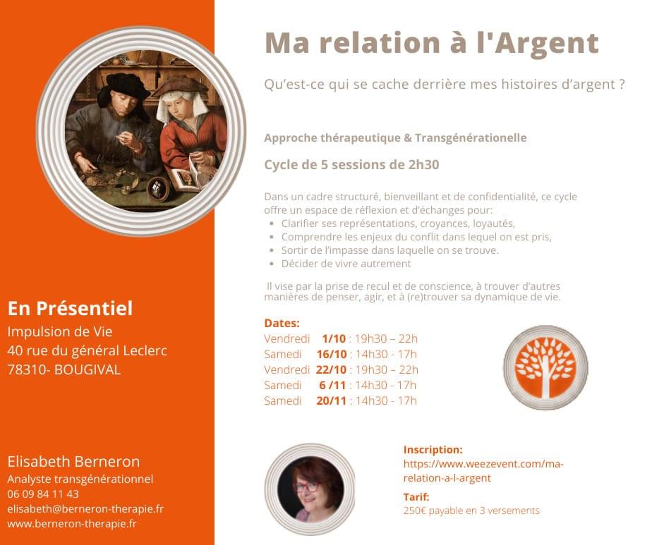 Elizabeth Bernenon - Thérapeute, Psychogénéalogiste - Ouest de Paris