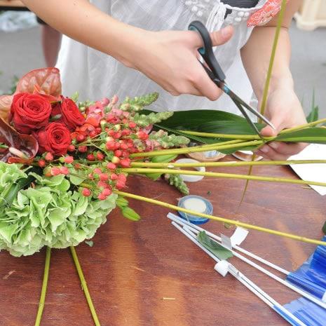 Atelier Vacances pour faire des bouquets