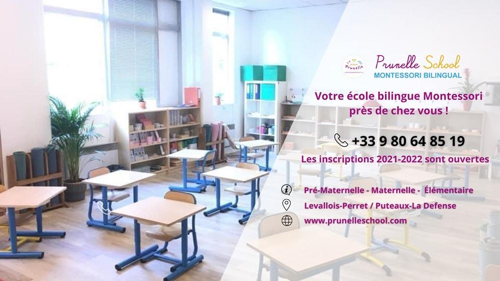 Prunelle School à Puteaux et à Levallois Perret Paris Ouest