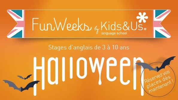 Fun weeks by Kids and us - Stage d'anglais - Halloween Paris ouest