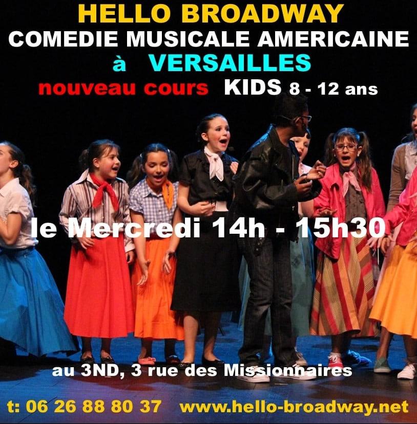 Hello Broadway Cours Kids 8 à 12 ans Versailles