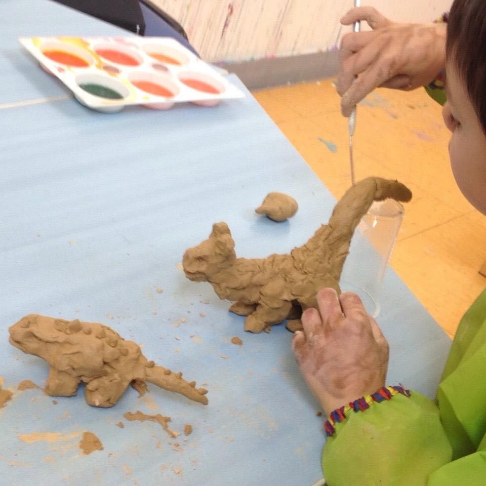 Clay sculpture ART in ENGLISH - Artt in English with Anita