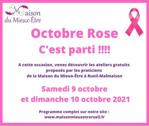 Octobre Rose Paris ouest Maison du Mieux Etre Chatou